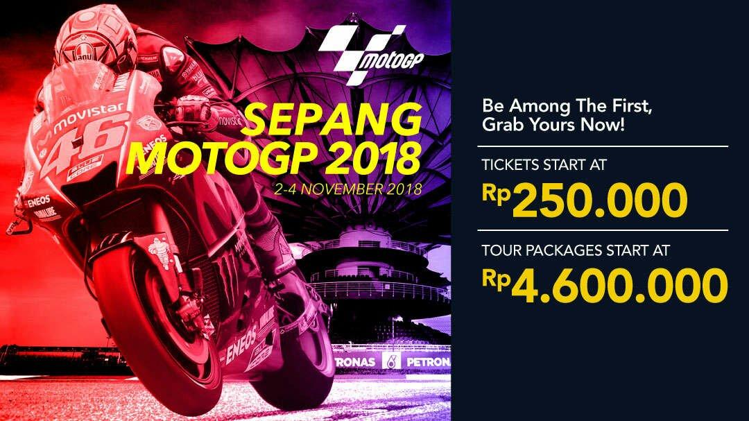cari tiket dan paket tour murah motogp sepang 2018
